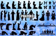 矢量祈祷轮廓,PS自定义形状