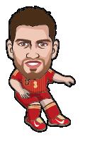 世界杯球星卡通形象,PNG AI源文件