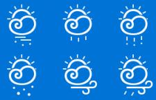 一套可爱的天气icon图标,PSD源文件