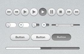 iTunes软件UI素材包,PSD源文件
