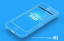 iPhone5 斜面线稿图,PSD源文件