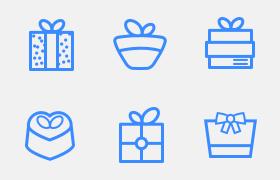 20卡通礼物图标,PSD AI源文件