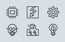 ios7风格的工业图标 PSD AI源文件,免费可商用