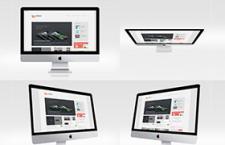 苹果iMac模型多角度,PSD源文件