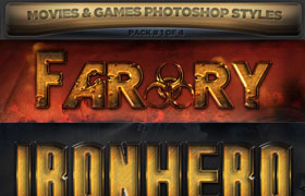 8款游戏电影海报字体样式,ASL格式 PSD源文件