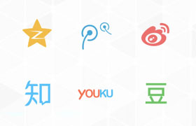 36组国内国外知名网站分享图标,AI源文件