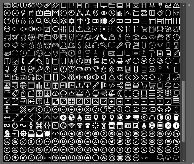 690枚实用线性图标形状,csh格式