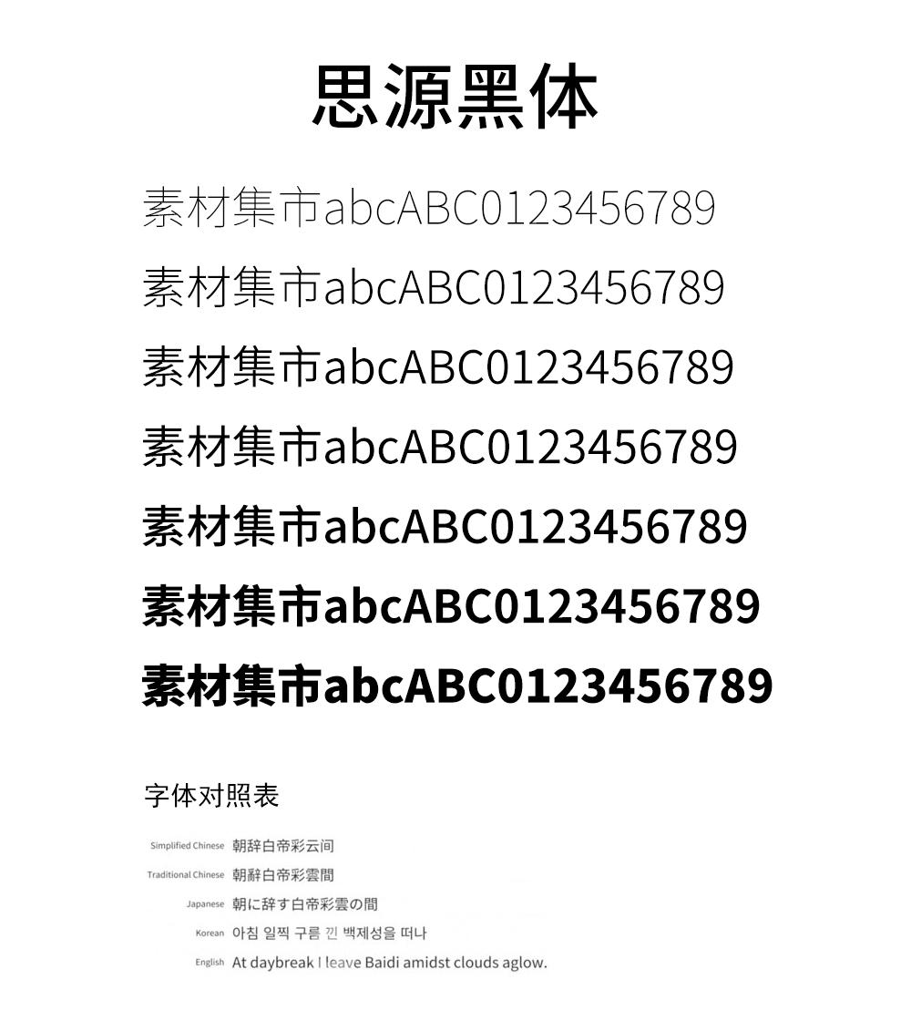 思源黑体,安卓中文字体
