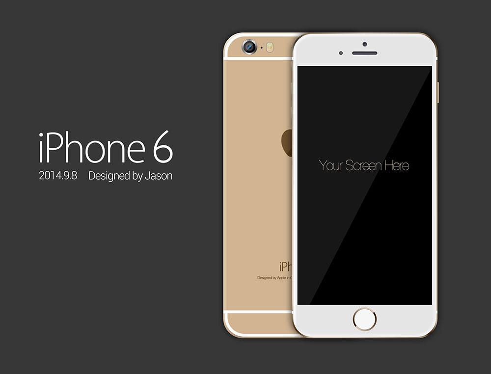 iPhone6 手机模型,PSD源文件