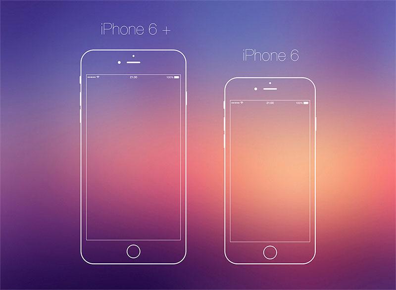 iphone 6线稿 PSD源文件