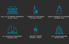 99枚旅游名胜线型PNG图标