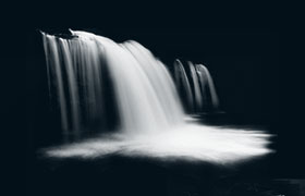 高清晰水流瀑布效果PS笔刷