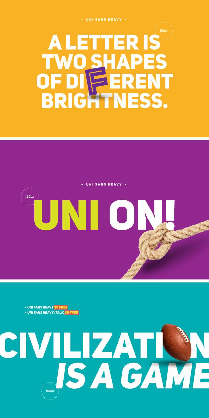 Uni Sans适用于扁平化设计的英文字体