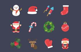 24枚圣诞节图标,PSD源文件