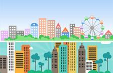 2款扁平化城市素材,PSD源文件