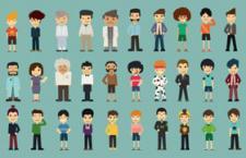 50个扁平化卡通人物,AI源文件