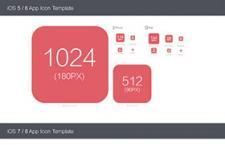 Apple IOS5,6,7,8图标规范PSD模板