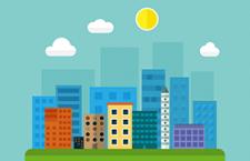 扁平化卡通城市,AI源文件