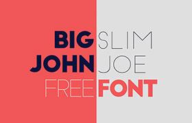 Big John / Slim Joe 英文字体