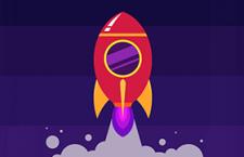 火箭发射扁平化风格,AI源文件