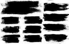 31款霸气墨迹高质量矢量素材,AI源文件