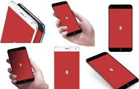 魅族MEIZU MX4多角度手机展示PSD模板