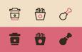 30枚美食图标,AI源文件