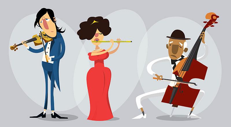 音乐卡通人物形象设计,AI源文件