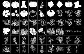 蔬菜植物相关图形,PS形状