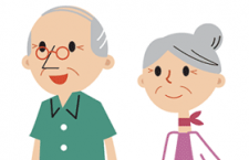扁平化人物老年人形象卡通,AI源文件