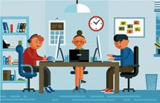 办公室卡通形象,AI源文件