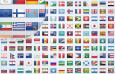 世界各国国旗图标,多尺寸 PNG格式