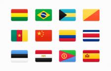 184枚扁平化国家徽标,PNG格式