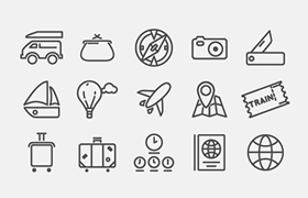 114枚旅游图标,AI源文件