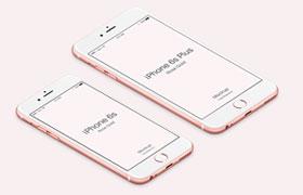iPhone 6S 玫瑰金多视角展示,PSD源文件