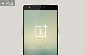 OnePlus One 一加手机模型,PSD源文件