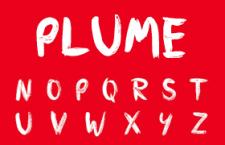 Plume英文字体