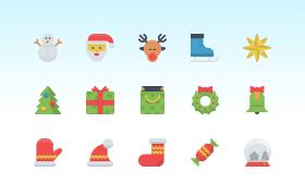 25枚圣诞节图标,AI源文件