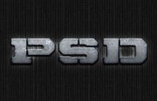 石头质感字体样式,PSD源文件