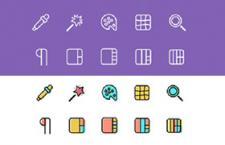2000枚彩色线性多格式图标包,AI PSD SKETCH SVG 源文件