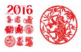 猴年春节设计元素,PNG格式