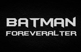 蝙蝠侠海报字体 BatmanForeverAlternate