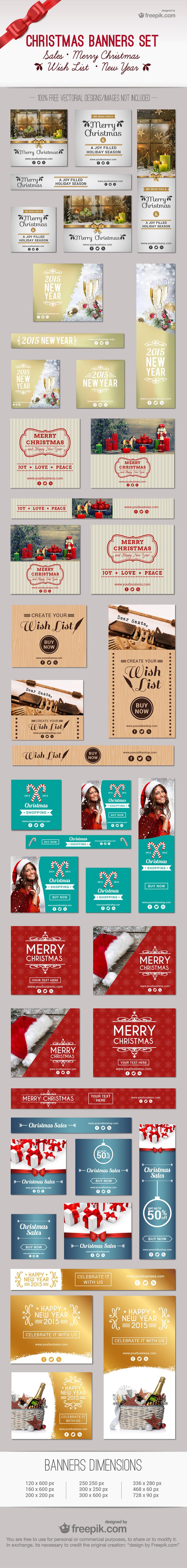 8款国外圣诞节banner模板,AI源文件