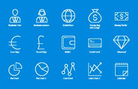 60枚商业图标,AI源文件