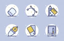 25枚设计工具图标,AI源文件