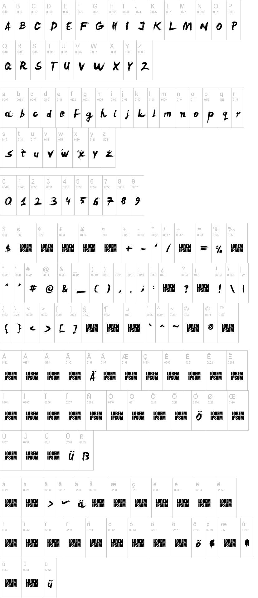 LeviReBrushed水墨书法风格 英文字体