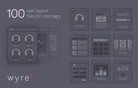100+ 功能组件原型图素材, AI源文件