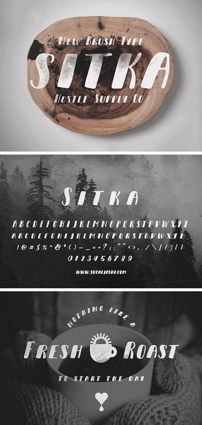 Sitka毛笔风格 英文字体