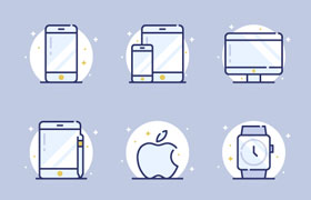 15枚苹果设备图标,AI源文件