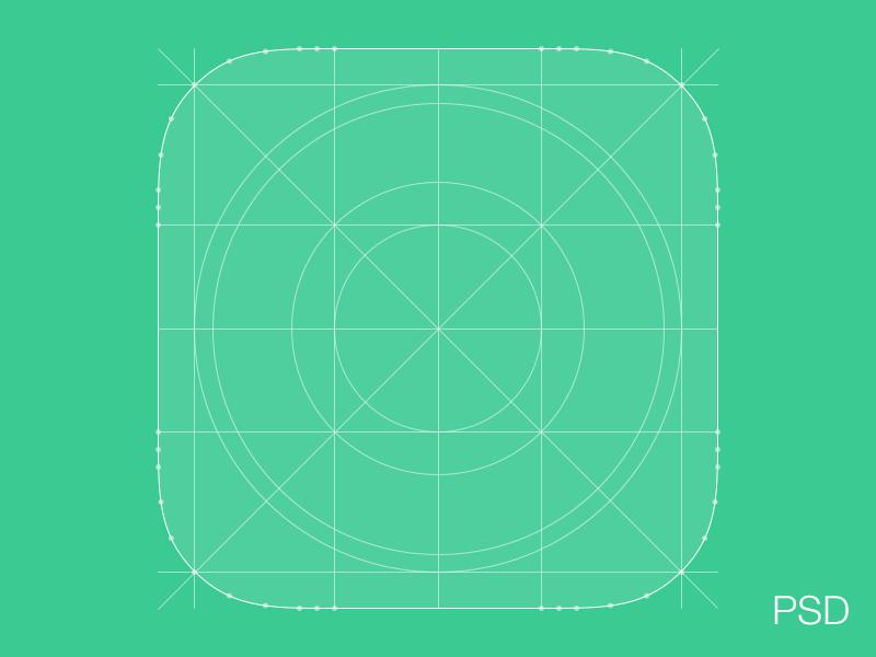 Logo设计参考线网格,PSD源文件